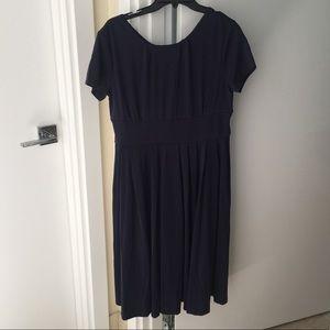 NWT Navy Blue pleated dress high quality size XL